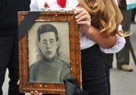 У селі Стара Чортория Любарського району перезахоронили останки загиблого солдата. Фото