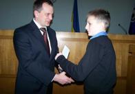 В Житомирі перспективні спортсмени отримали стипендії від Володимира Дебоя