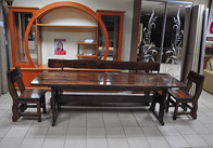 Деревянные скамейки, скамьи и лавки для дачи, сада, ресторана, кафе, бара на заказ. Фото