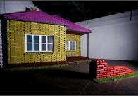Новий погляд на будівництво: будинок зі старих яєчних коробок