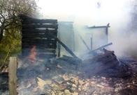 У Житомирській області чоловік погано ходив і згорів у власній хаті. Фото