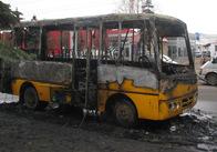 Сьогодні в 8-20 ранку в Житомирі вщент згоріла 26-та маршрутка (відео, фото)