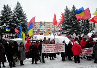 У Житомирі пікетували проти учасника АТО Лілії Куришко (фото, відео)