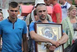 У Житомирі націоналісти виступили категорично проти проведення хресної ходи УПЦ МП. ВІДЕО