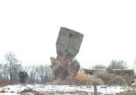 В Бердичеві піротехніки МНС підірвали водонапірну башту (фото)