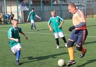 У Житомирі поліцейські та курсанти зіграли футбол з вихованцями шкіл-інтернатів