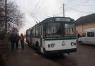 По Малікова у Житомирі проїхав перший тролейбус. Фото
