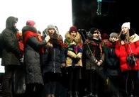 Незважаючи на мороз, християни різних житомирських конфесій таки відзначили Різдво на майдані. Відео