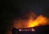 У Житомирі вночі будинок гасили три пожежні машини. Фото