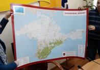 Вахтанг Кіпіані подарував школам Житомира карту Криму українською мовою