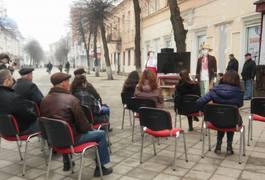 У Житомирі на вулиці Михайлівській показують фільми про Шевченка