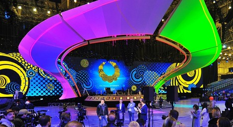 Фото сцени Євробачення в Україні