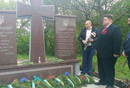 Ігор Гундич відзначив 9 травня відкриттям пам'ятника загиблим українським воїнам на Житомирщині. Фото