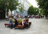 На Михайлівській увімкнули безкоштовний WiFi і поставили деревця