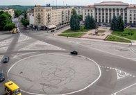 У Житомирі на Майдані Соборному збираються перемалювати розмітку кільцевого руху