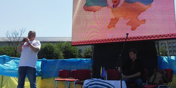 На святкування Дня Конституції у Житомир приїхали відомий письменник та громадський діяч