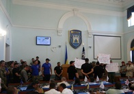 Сесія міської ради проходить під блокування трибуни