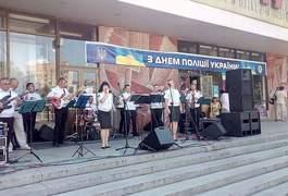 День поліції у Житомирі святкують з піснями і спецзасобами