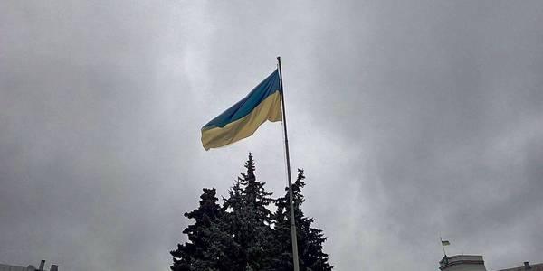 У Житомирі урочисто підняли Державний прапор. Фото