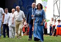 Фестиваль льону окрім українців відвідали гості з Білорусі, Молдови, Польщі, Франції, Бельгії та ПАР