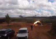 Під час навчань у Росії вертольот підбив цівільних. У Міноброни РФ підтверджують. Відео