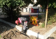 На Михайлівській почали ремонт прибудинкових територій. Фото