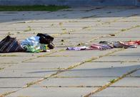 """Нічийна сумку біля готелю """"Житомир"""" підняла зранку на ноги поліцію і вибухотехніків. Фото"""