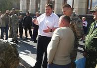 Ціль - земля: Житомирські АТОшники після розмови з губернатором поїхали перекривати Київ-Чоп. Оновлено
