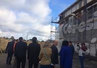 Житомирські чиновники перевіряють, як проходять ремонти гімназії та театру у Бердичівському районі. Додано фото