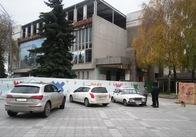 """Михайлівська пішохідна: житомирські """"копи"""" штрафують водіїв, які заїхали на вулицю. Фото"""