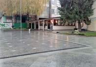 На Михайлівській зняли паркан й показали фонтан
