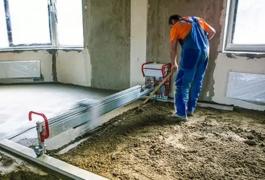 Технологія виробництва напівсухої стяжки підлоги