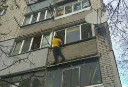 Житомирянин вкрав велосипеди, а потім хотів зістрибнути з балкону. Фото