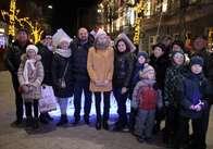 Фонд родини Розенблат встановив льодові скульптури на Михайлівській
