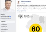 Порошенко у Фейсбуці відзначив Житомирщину