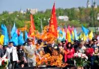 Парад Перемоги у Житомирі: море людей, квітів, вдячності за подвиг 66-річної давнини!