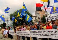 Житомирська «Свобода» закликала боротися з бандою, яка займається політичними репресіями