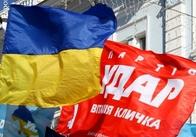 """У Житомирі молоді """"УДАРівці"""" показали Януковичу червону картку"""