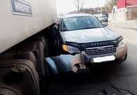 У Житомирі зіштовхнувся легковик з іноземною вантажівкою