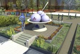 В Житомире начали делать фундамент под памятник Мороженому