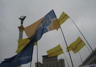 Сьогодні житомиряни стоять на Майдані. Житомирських прапорів чи не найбільше! (Ексклюзив сайту)