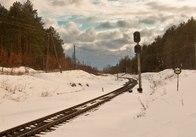 На залізничних вокзалах Житомирщини сніговий покрив досягає 40 сантиметрів