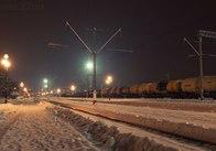 Залізничні колії Житомирщини знову засипав сніг